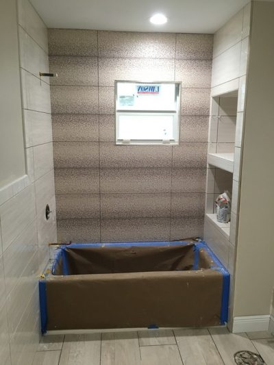 Installing new tub