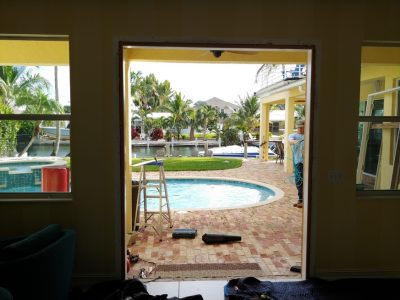 Impact windows and doors installation